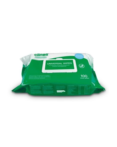 Clinell Universal Wipes 100 (Thick Wipe)  IN STOCK