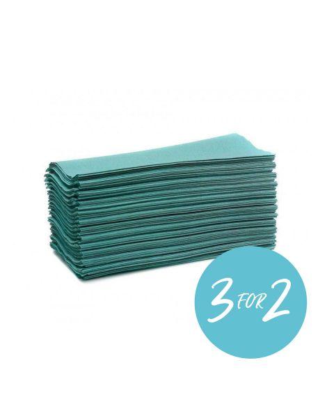 C-Fold Hand Towels Green 25x22cm 1 ply (2880 Pcs)
