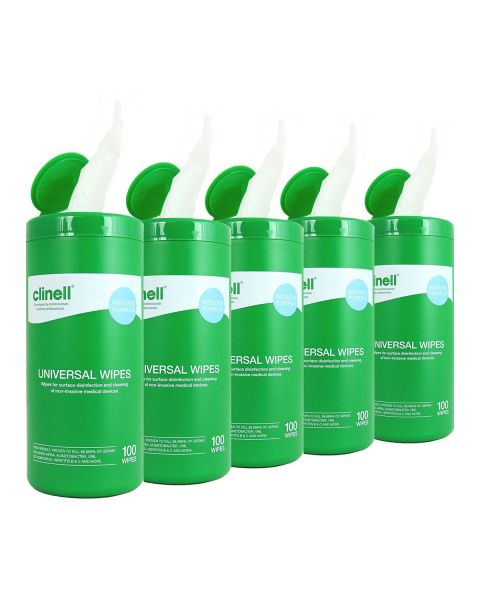 Clinell Universal Wipes Tub 100 (Box of 8)