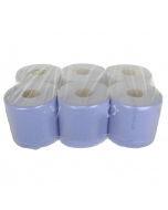 Blue 2 Ply Centrefeed rolls 150 metre x 180 mm - 6 pack