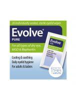 Evolve Pure Eyelid Wipes 20pcs RRP £9.99