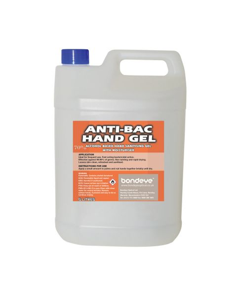So Safe 70% Alcohol Anti-Bacterial Hand Gel (5ltr)