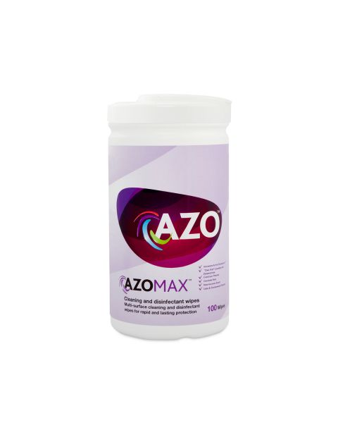Azo Max Active Wipes - tub of 100