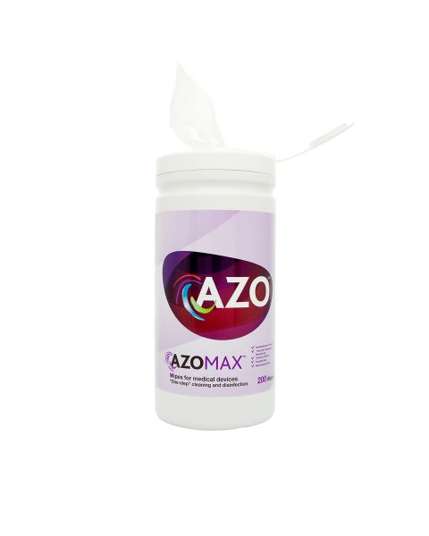 Azo Max Wipes - tub of 200 (Non Invasive Medical)