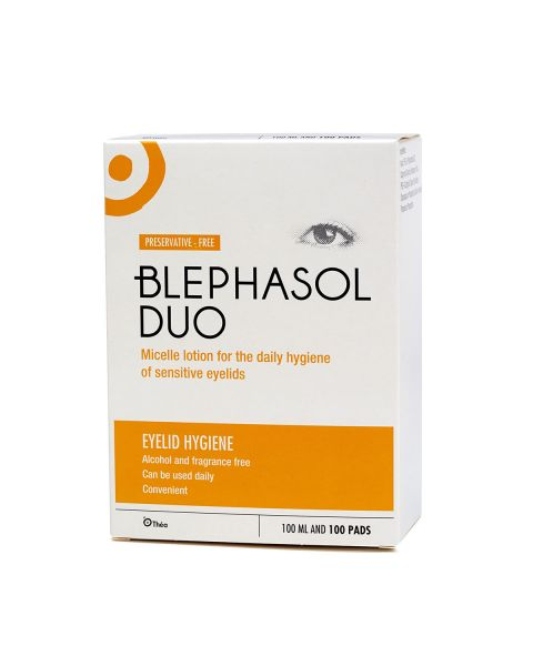Blephasol Duo Eye Lid Cleansing Lotion + 100 Pads RRP £12.49
