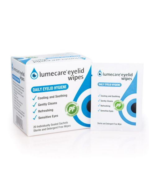 Lumecare Eyelid Wipes 20 x 2.25ml RRP £6.99