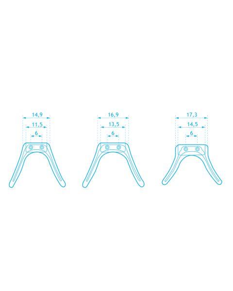 Silicone Strap Bridge Vertical Pin 16 x 40 mm 1 pc