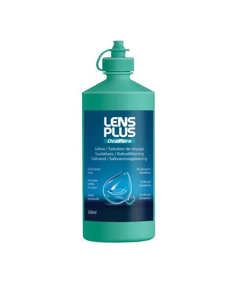 Lens Plus Ocupure Saline 120ml RRP £2.59