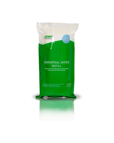 Clinell Universal Wipes 100 Refill Pack