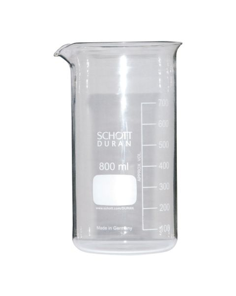 Glass Beaker 800 ml (with spout)