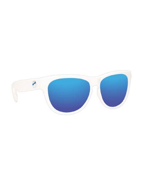 Minishades Ages 8-12 White Cloud/Blue Mirror