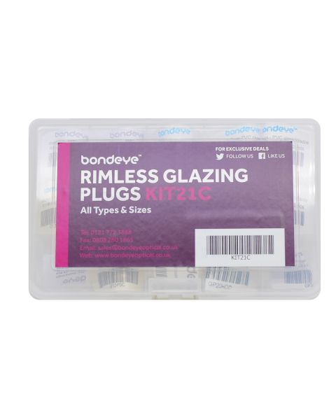Glazing Plugs Mixed Types & Sizes Kit 15 pks