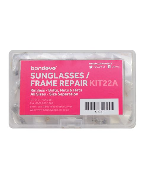 Sunglass/Frame Repair in dia 1.2 - 1.6 Gold/Nick Kit 30 pks