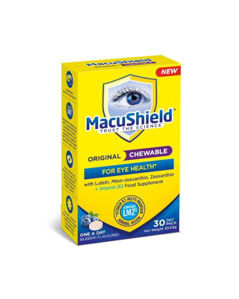 MacuShield Original CHEWABLE with MZ Supplements 30 Day  RRP £17.50