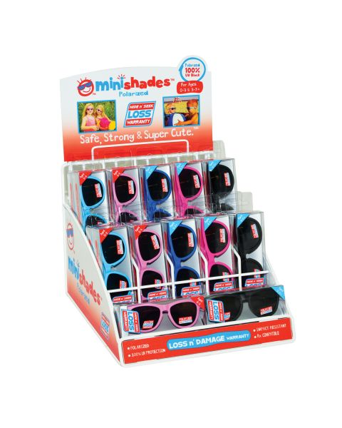 Minishades Childrens Sunglasse 22pc Display