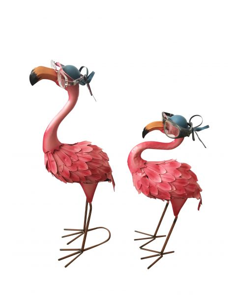 Set Of 2 x Flamingo Window Display