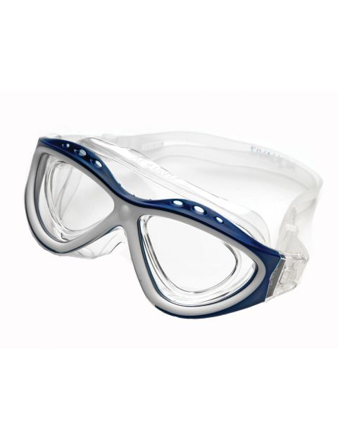 Aquaviz Swim Mask BLUE/WHITE (Includes Glazable Insert)