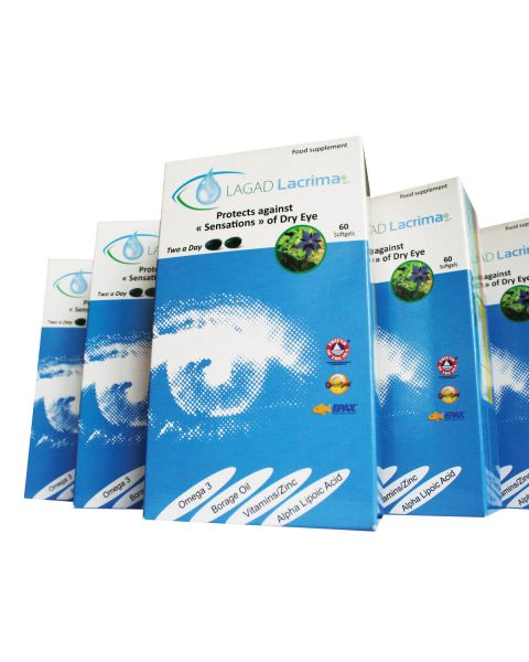 Lagad Lacrima Dry Eye Supplements-Bulk containing 60 Units