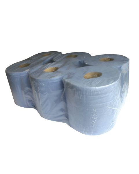 Blue 2 Ply Centrefeed towel rolls 150m x 200 mm - pack of 6