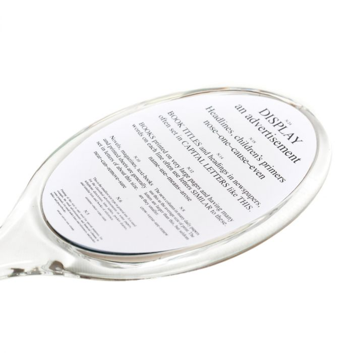 Hand Held Mirror With Reading Chart